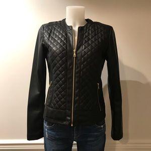 Cole Haan Signature Black faux Leather jacket